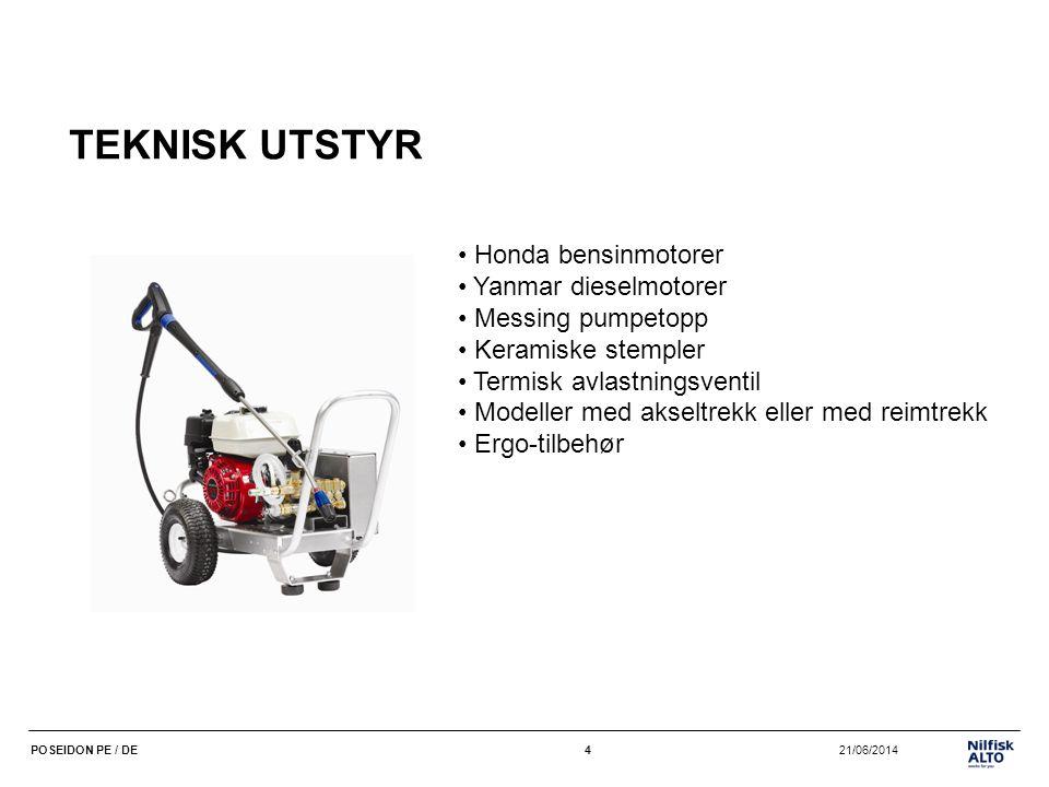 TEKNISK UTSTYR Honda bensinmotorer Yanmar dieselmotorer