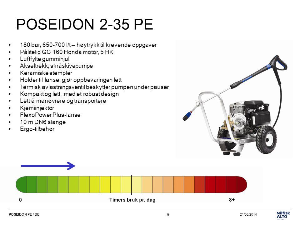 POSEIDON 2-35 PE 180 bar, 650-700 l/t – høytrykk til krevende oppgaver