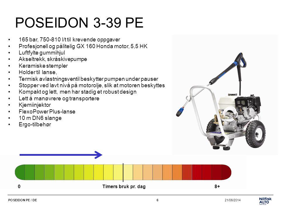POSEIDON 3-39 PE 165 bar, 750-810 l/t til krevende oppgaver