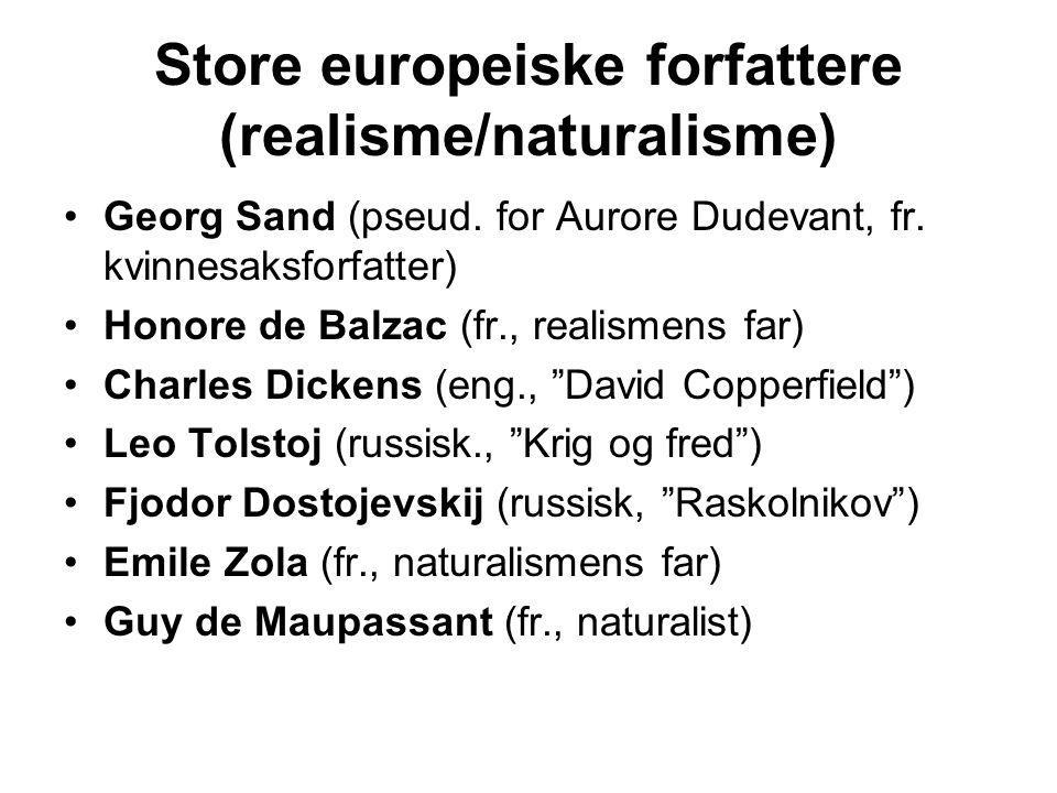 Store europeiske forfattere (realisme/naturalisme)