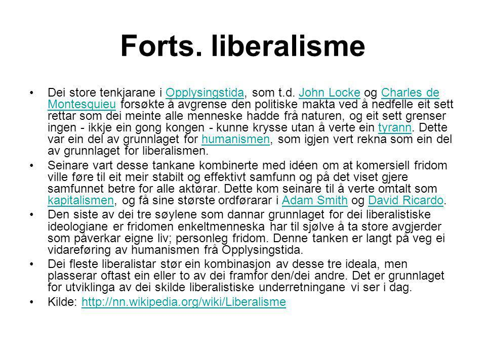 Forts. liberalisme