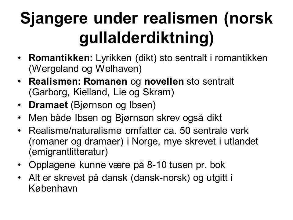 Sjangere under realismen (norsk gullalderdiktning)