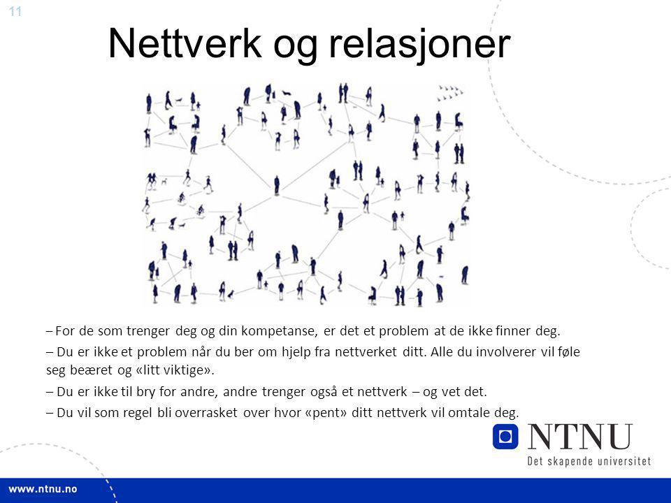Nettverk og relasjoner