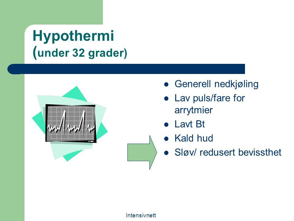 Hypothermi (under 32 grader)