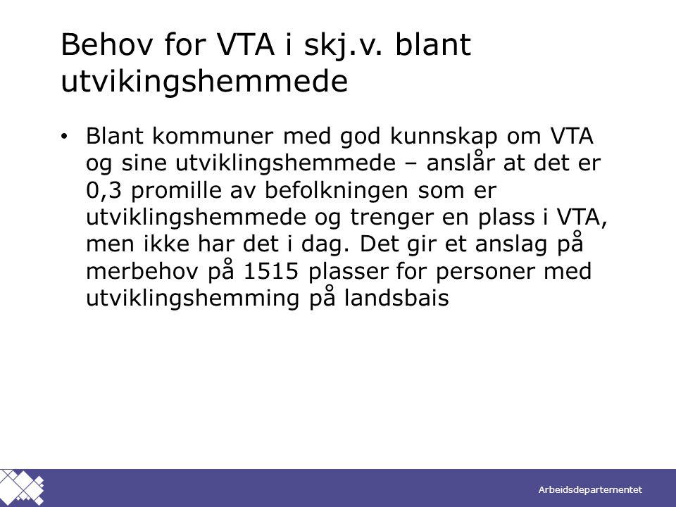 Behov for VTA i skj.v. blant utvikingshemmede