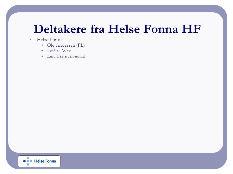 Deltakere fra Helse Fonna HF