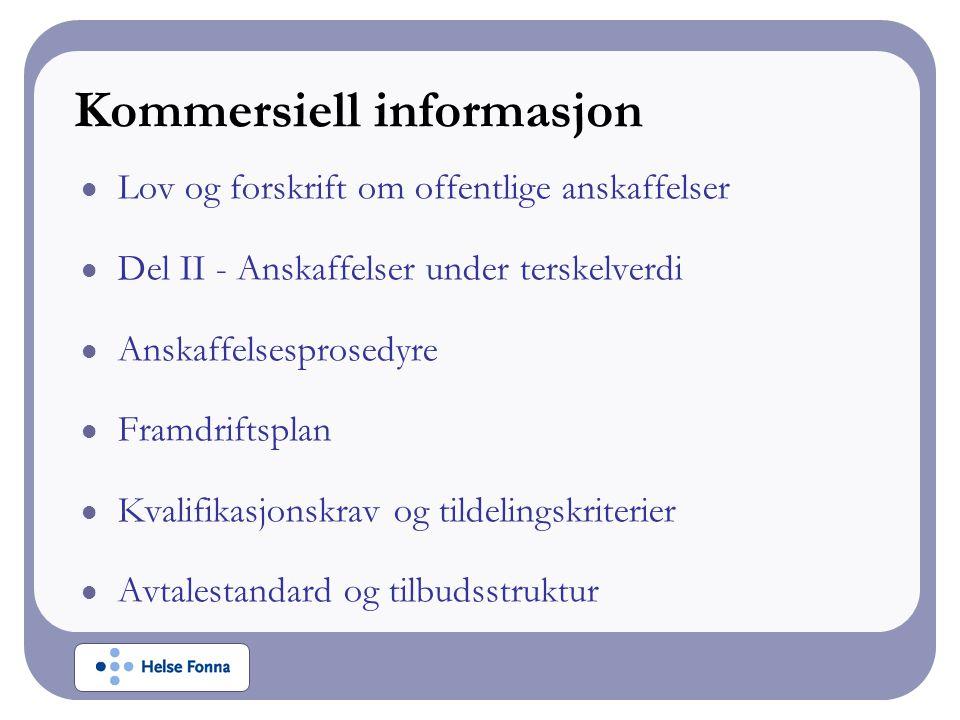Kommersiell informasjon