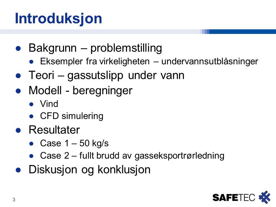 Introduksjon Bakgrunn – problemstilling Teori – gassutslipp under vann