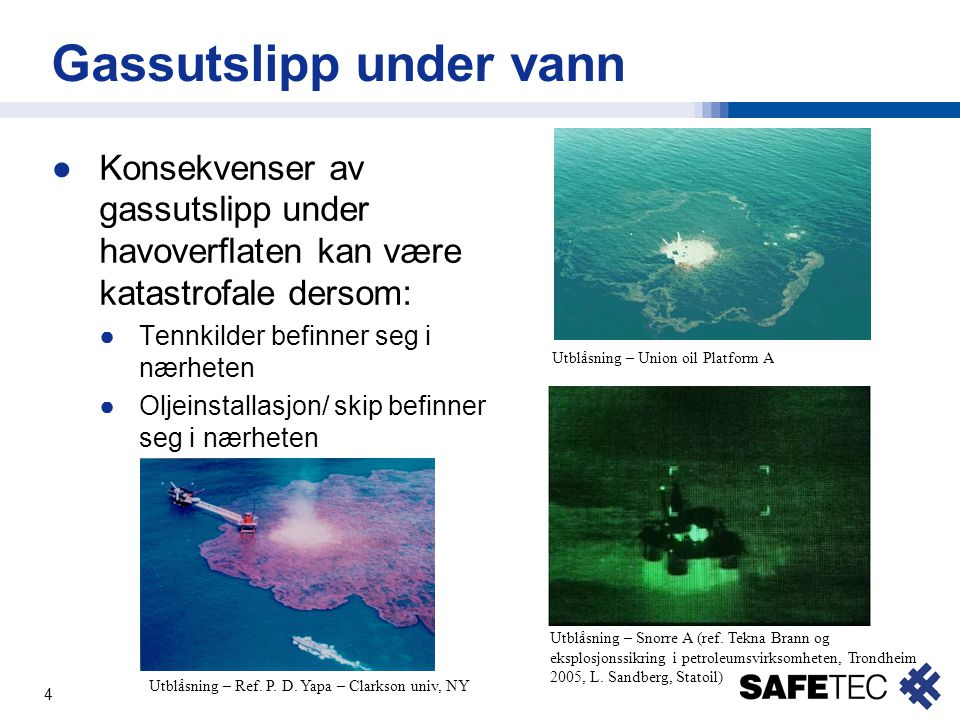 Gassutslipp under vann