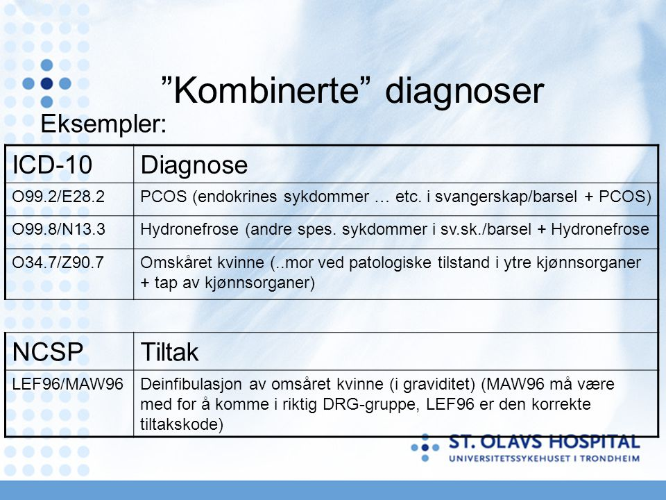 Kombinerte diagnoser