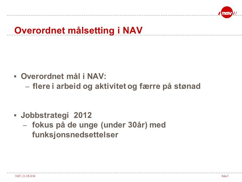 Overordnet målsetting i NAV