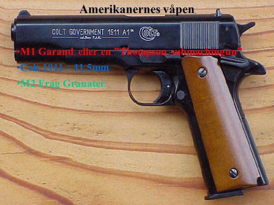 Amerikanernes våpen M1 Garand eller en Thompson submachingun