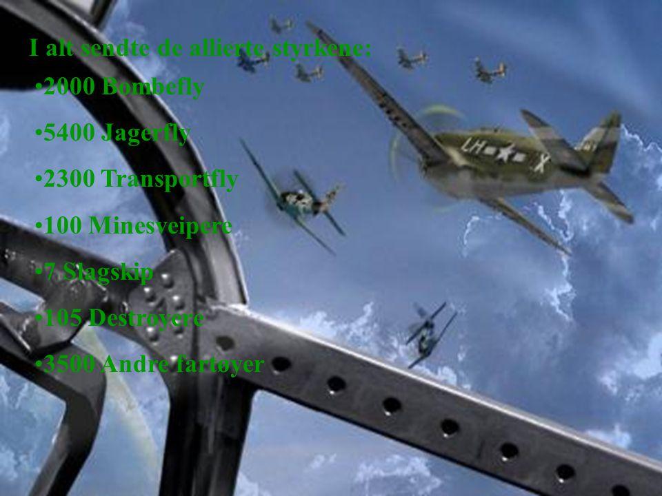 I alt sendte de allierte styrkene: