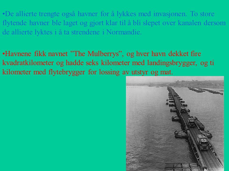 De allierte trengte også havner for å lykkes med invasjonen