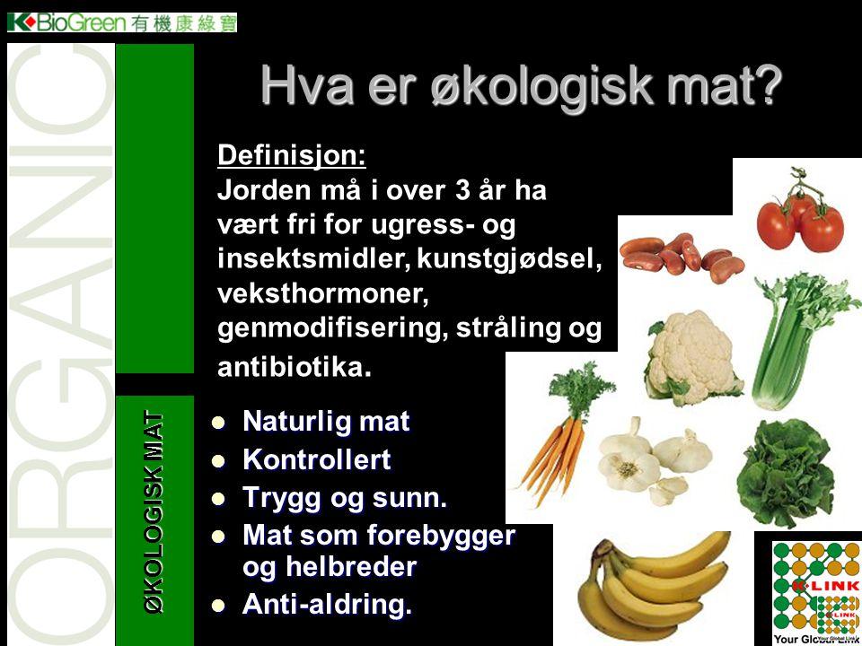 Hva er økologisk mat Definisjon: