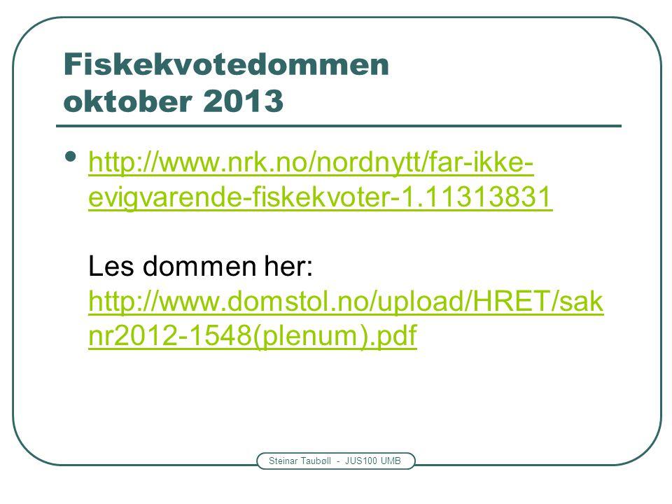 Fiskekvotedommen oktober 2013