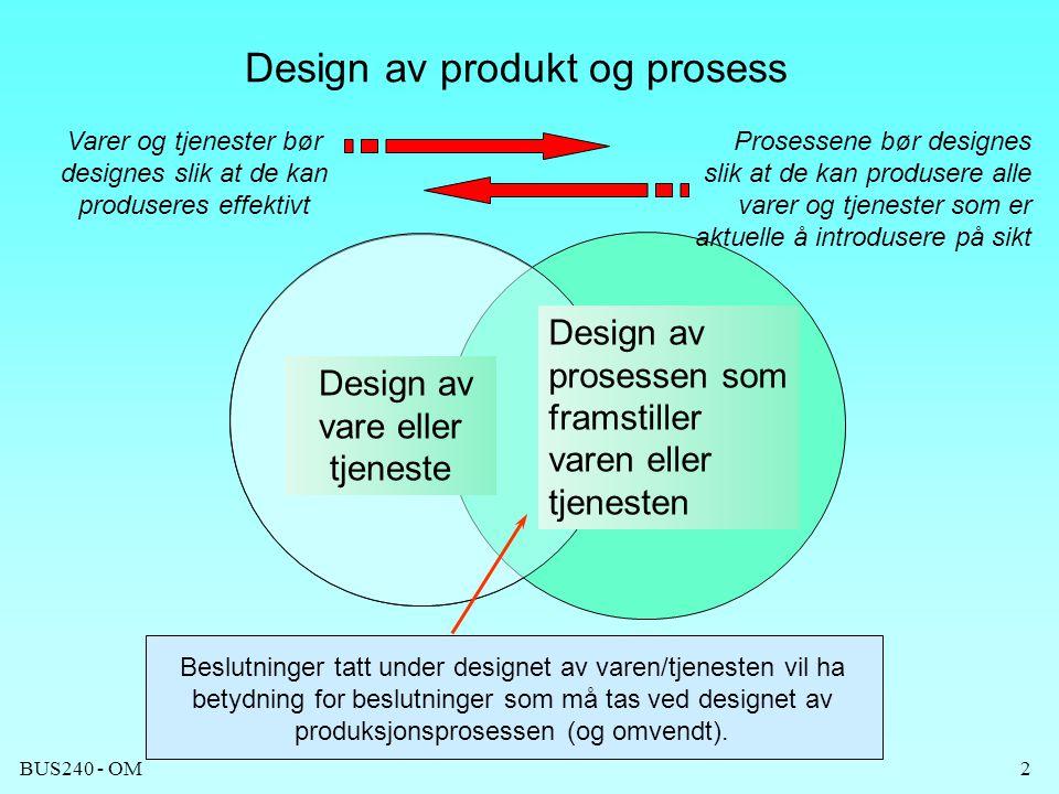 Design av produkt og prosess