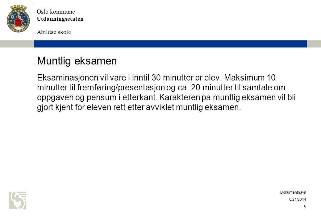 Muntlig eksamen