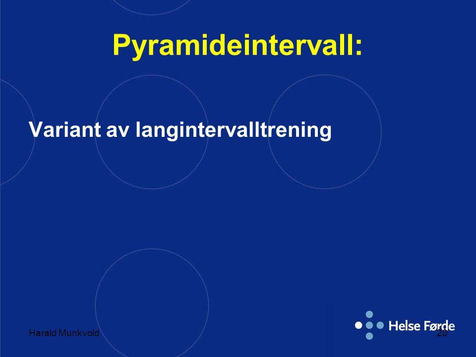Pyramideintervall: Variant av langintervalltrening Harald Munkvold