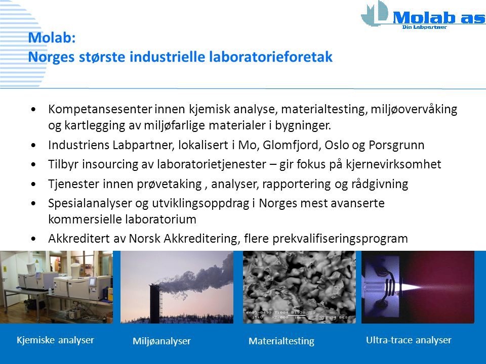 Molab: Norges største industrielle laboratorieforetak