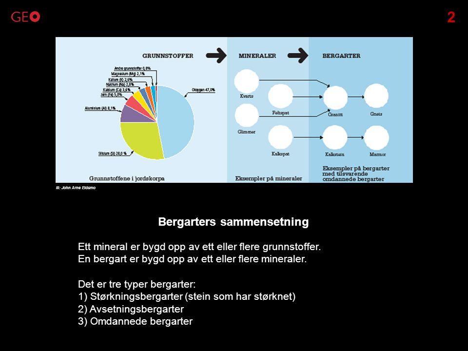 Bergarters sammensetning