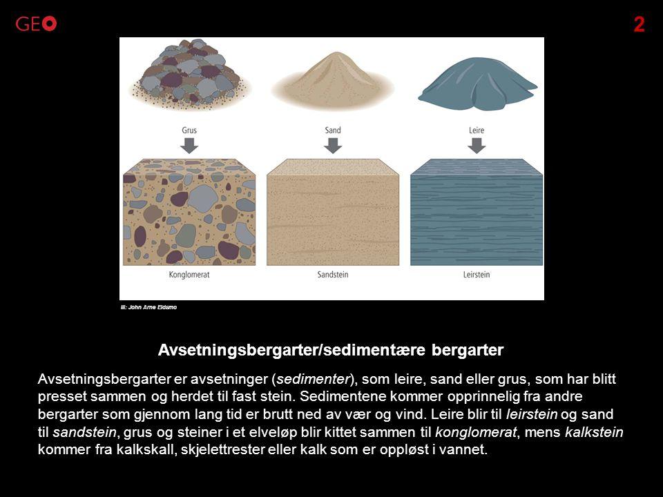 Avsetningsbergarter/sedimentære bergarter