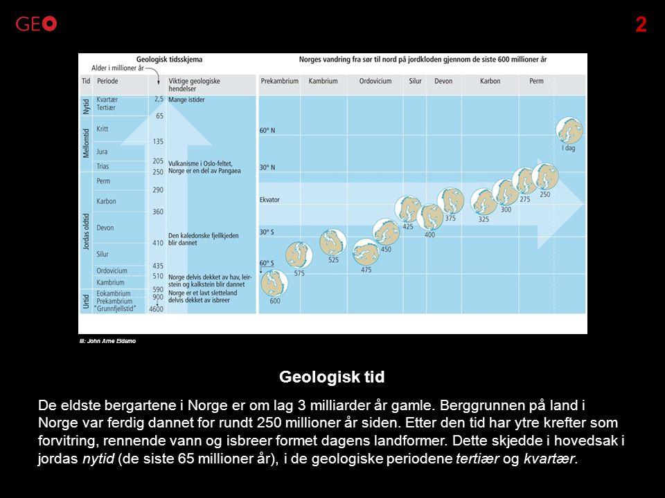 2 Ill: John Arne Eidsmo. Geologisk tid.