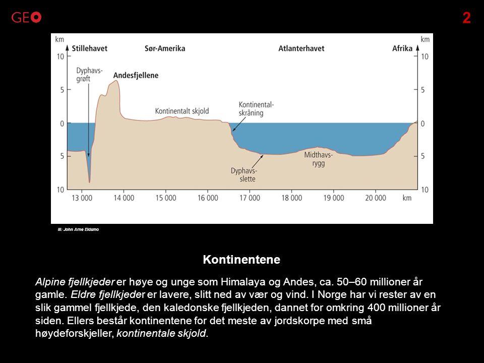 2 Ill: John Arne Eidsmo. Kontinentene.
