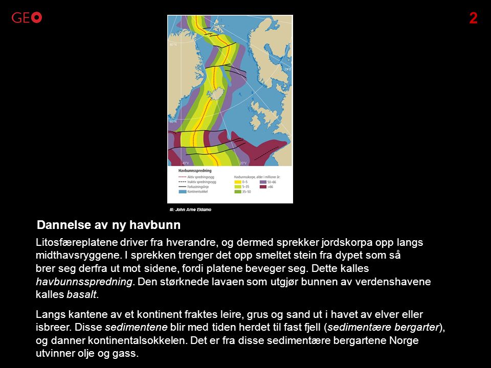 2 Ill: John Arne Eidsmo. Dannelse av ny havbunn.