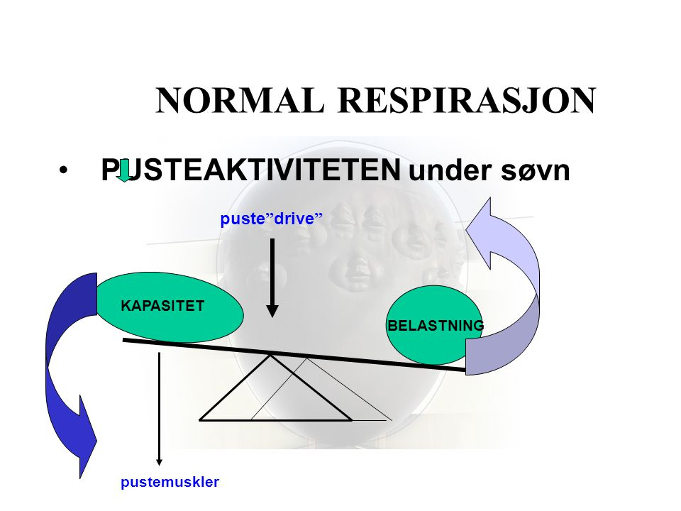 NORMAL RESPIRASJON PUSTEAKTIVITETEN under søvn puste drive KAPASITET