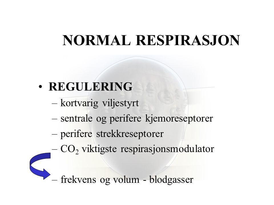 NORMAL RESPIRASJON REGULERING kortvarig viljestyrt
