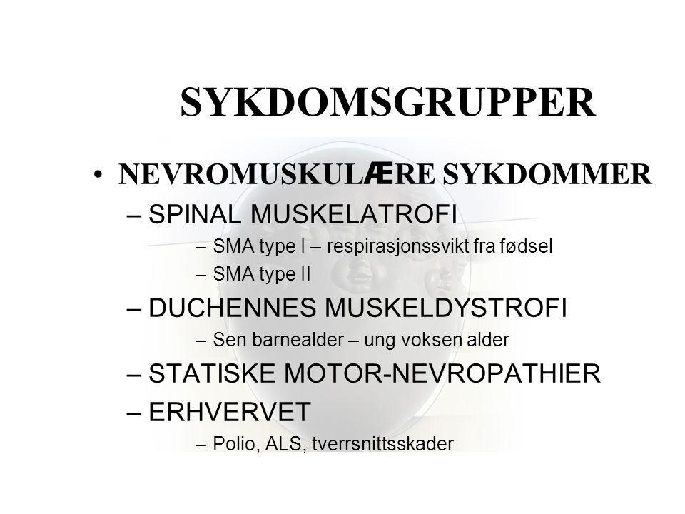 SYKDOMSGRUPPER NEVROMUSKULÆRE SYKDOMMER SPINAL MUSKELATROFI