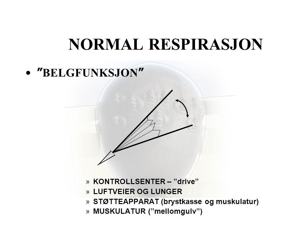 NORMAL RESPIRASJON BELGFUNKSJON KONTROLLSENTER – drive
