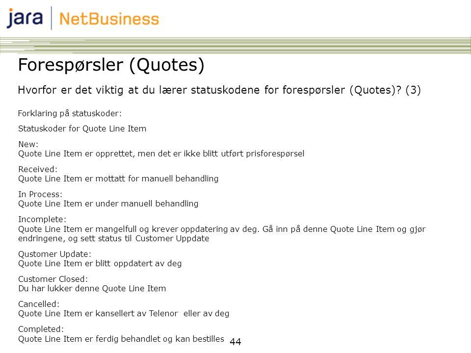 Forespørsler (Quotes)