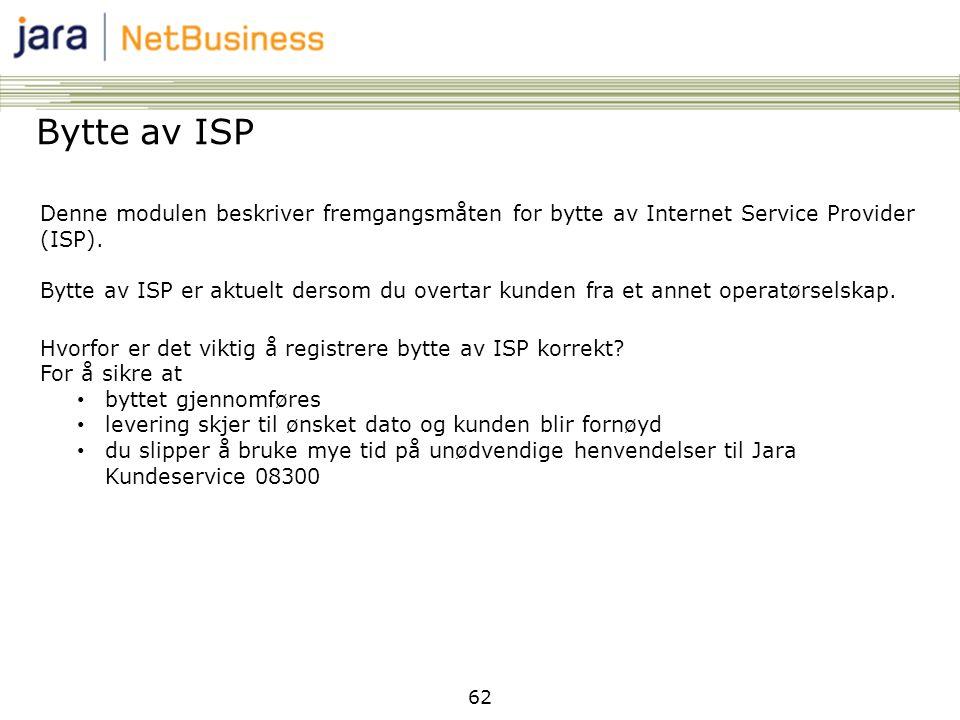 Bytte av ISP