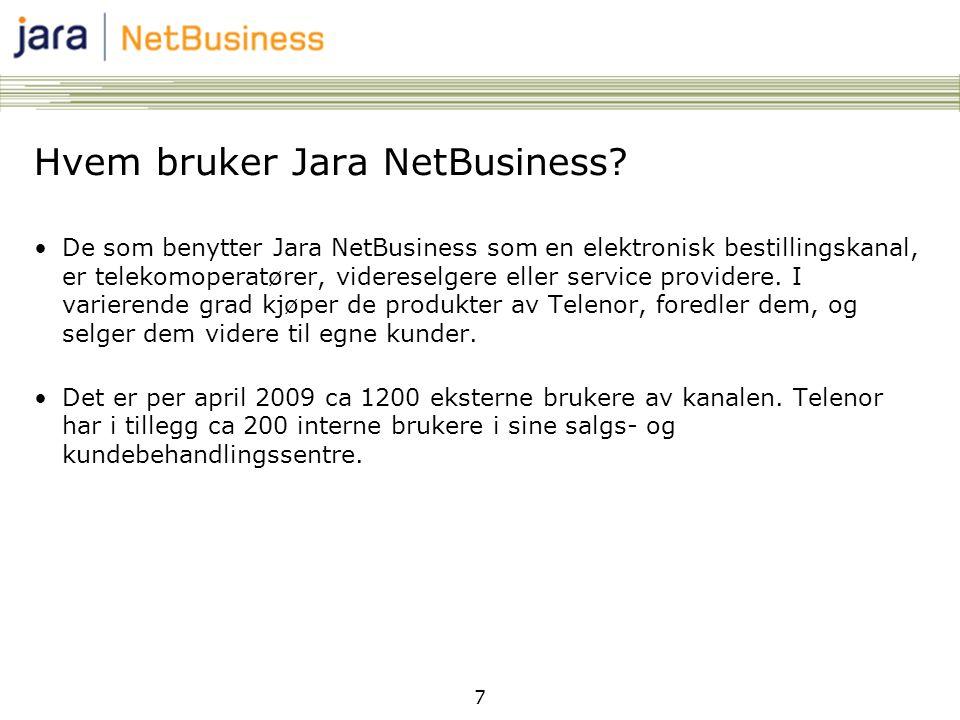 Hvem bruker Jara NetBusiness