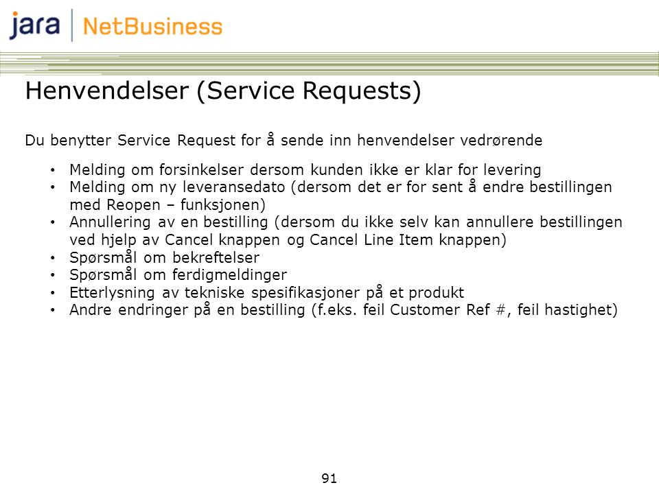 Henvendelser (Service Requests)