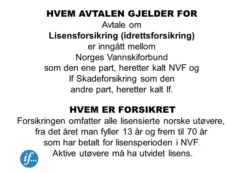 HVEM AVTALEN GJELDER FOR Avtale om