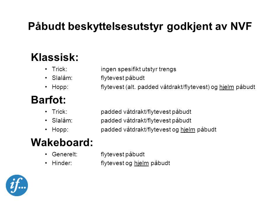 Påbudt beskyttelsesutstyr godkjent av NVF