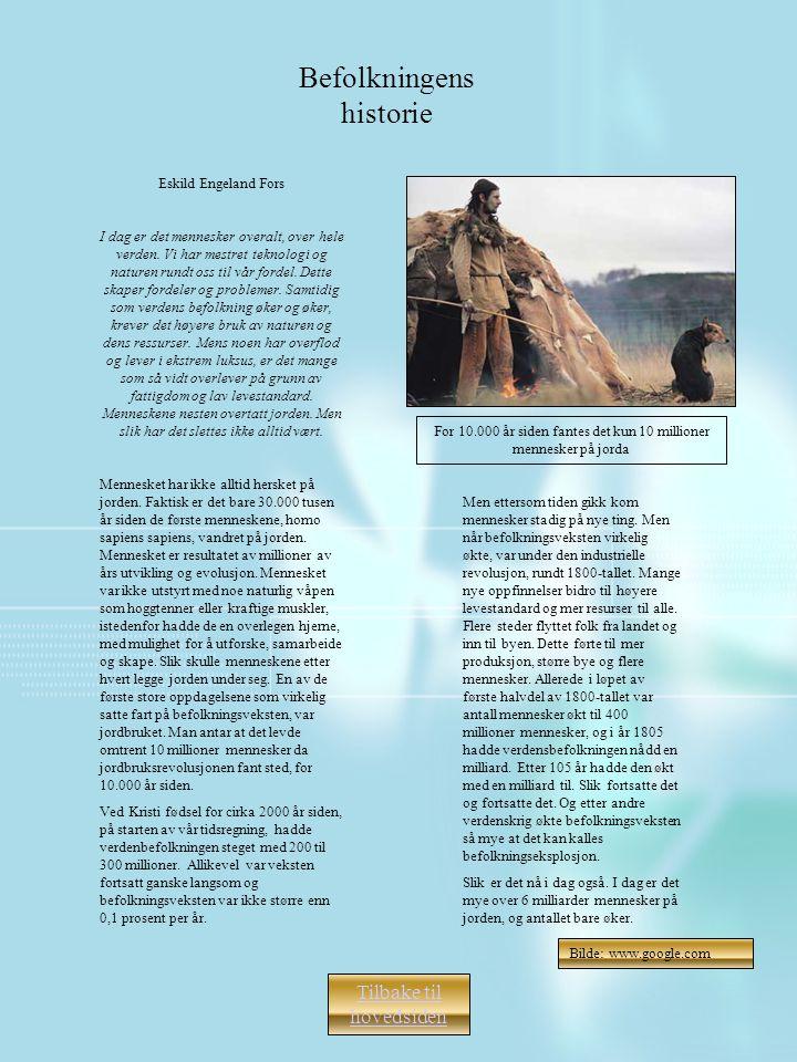 Befolkningens historie
