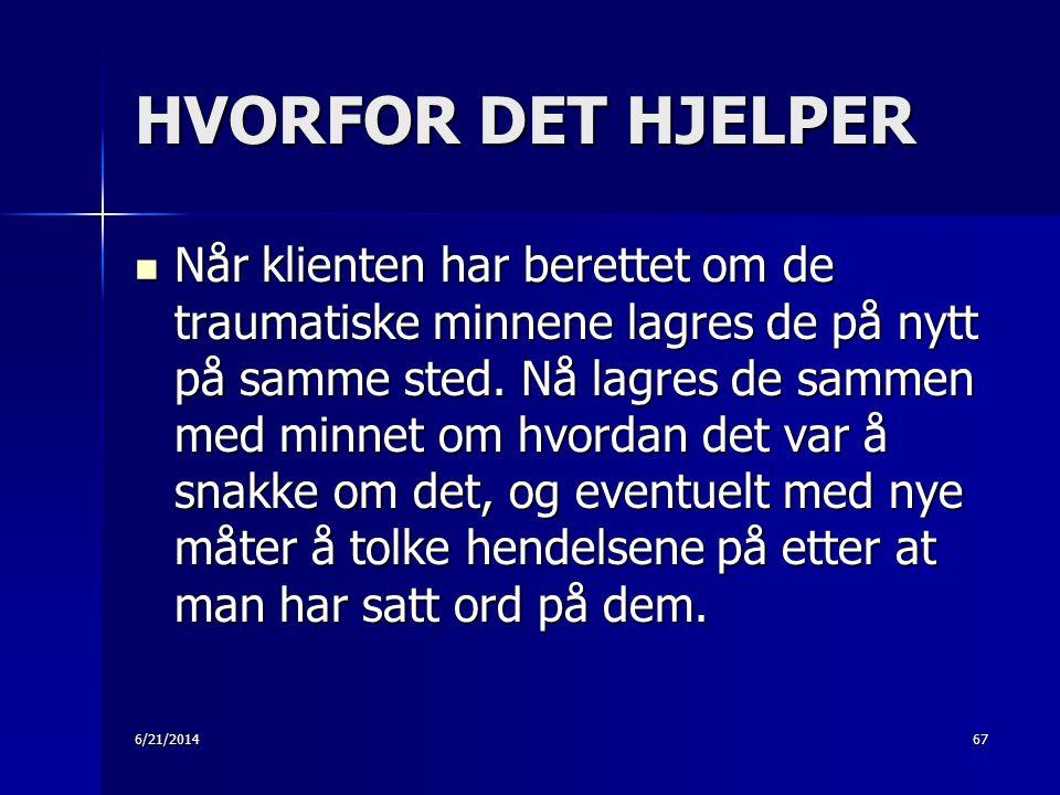 HVORFOR DET HJELPER
