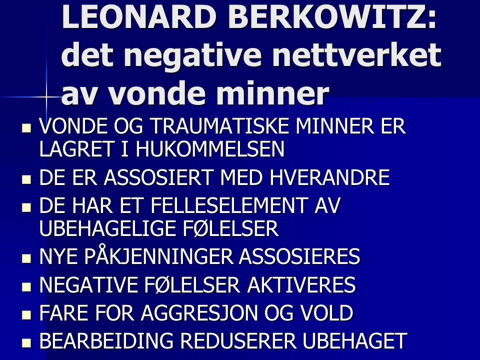LEONARD BERKOWITZ: det negative nettverket av vonde minner