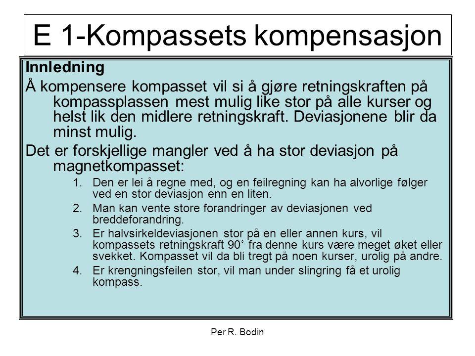 E 1-Kompassets kompensasjon