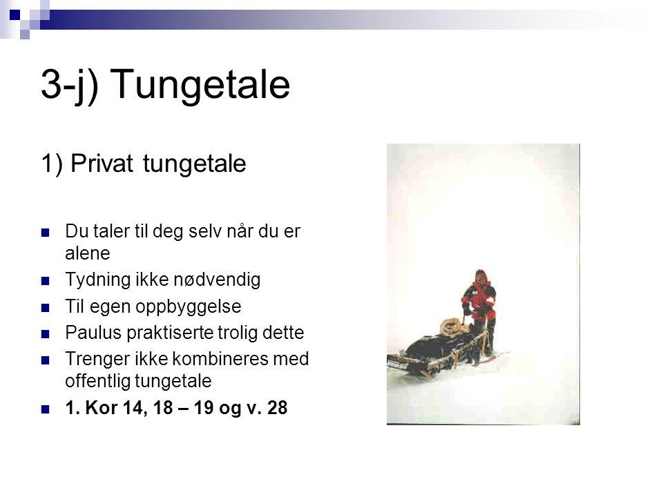 3-j) Tungetale 1) Privat tungetale