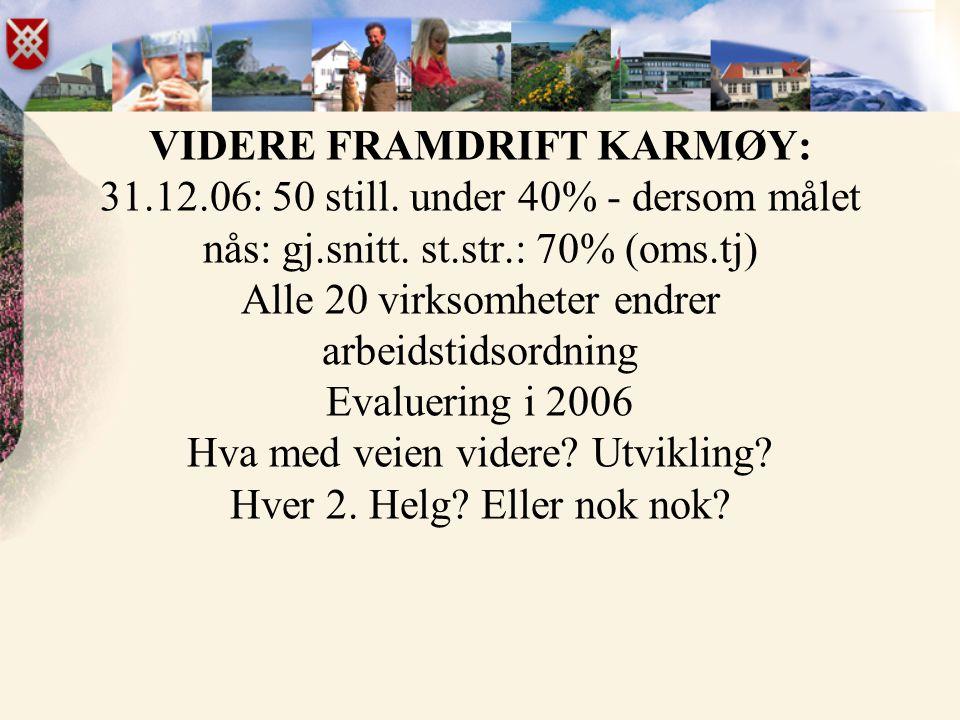 VIDERE FRAMDRIFT KARMØY: 31. 12. 06: 50 still