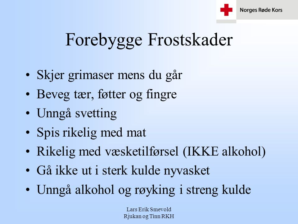 Forebygge Frostskader