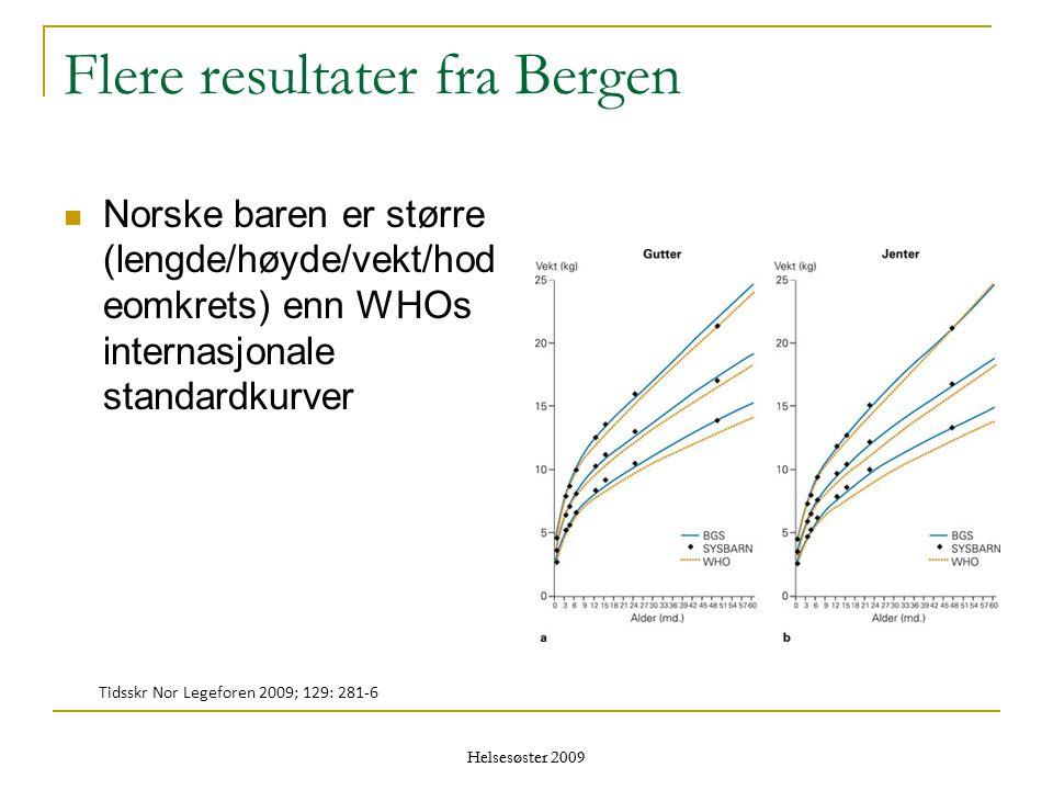 Flere resultater fra Bergen