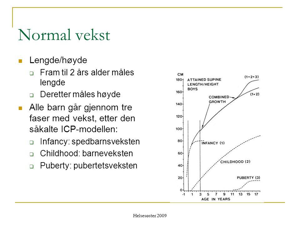 Normal vekst Lengde/høyde