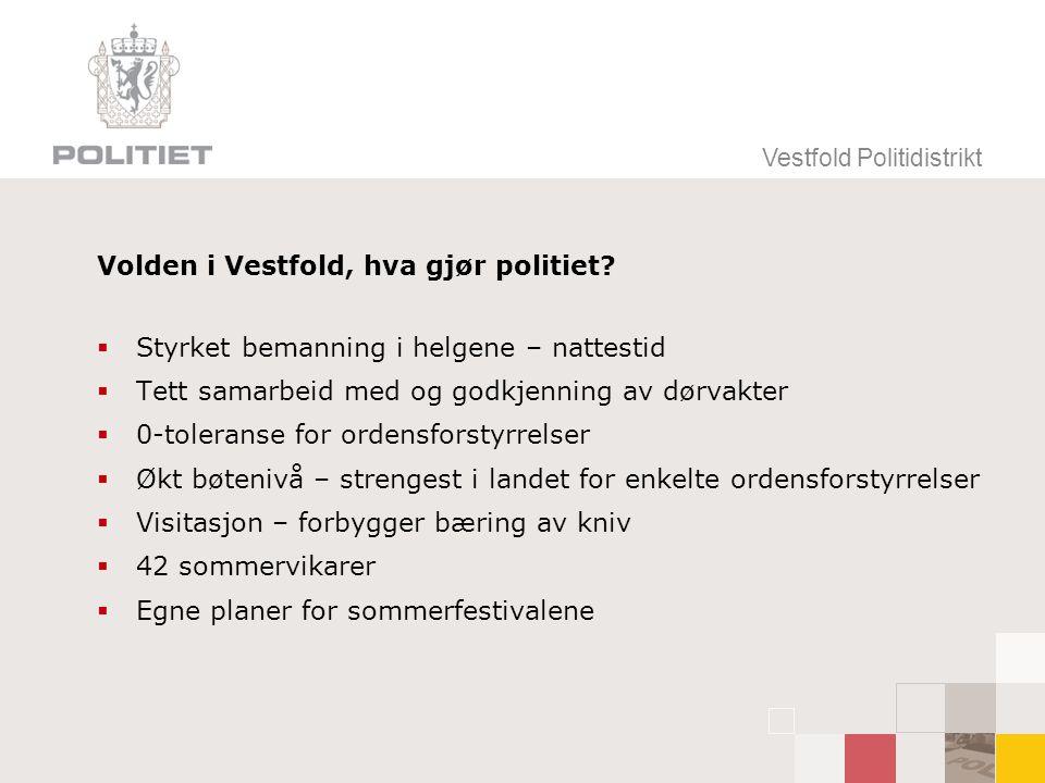 Volden i Vestfold, hva gjør politiet