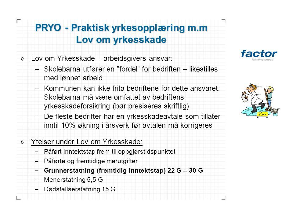 PRYO - Praktisk yrkesopplæring m.m
